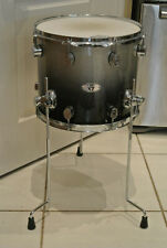 """PDP by DW 14"""" FLOOR TOM X7 ALL MAPLE PLY SERIES SILVER 2 BLACK SPARKLE FADE Z307"""
