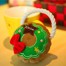 Pet Toy Christmas Small Dog Cat Puppy Chew Squeeze Sound Set Cute Festival Gifts