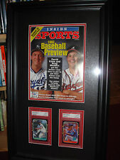 Greg Maddux David Cone Signed Autographed Double Matted Framed PSA/DNA PSA 9