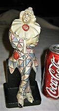 Antique Judd Usa Cast Iron Clown Jester Harlequin Art Statue Toy Door Doorstop