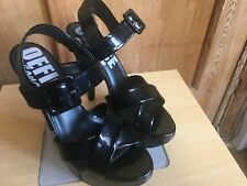 Office Black Heels Strappy Size 4 37 Patent