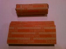 150 - Quarters Flat Coin Wrappers Pop Open Tubes 25c Twenty Five Holder Cent MMF