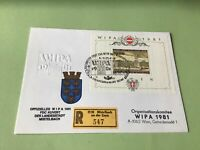 Austria Wipa 1981  registered Wien stamps cover ref 50585