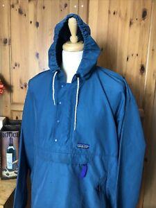 1287 Mens PATAGONIA Pullover Hooded Smock Windbreaker Jacket XL/XXL Y2K