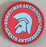 sometimes antisocial - always antifascist soft-PVC Kühlschrankmagnet rot