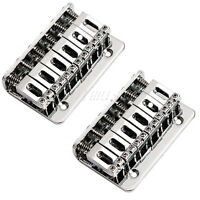 2 Chrome Hardtail Hard Tail Bridge for Electric 6 String Top Load Guitar Parts