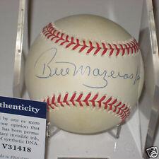 BILL MAZEROSKI (Pittsburgh Pirates) Signed Official NL Baseball w/ PSA COA