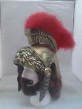 Gold Roman Soldier Helmet Centurion Trojan Adult One Size