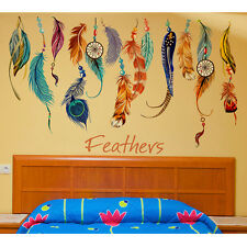 Removable Classic Dream Catcher Feather Wall Sticker Art Decal Mural Decor New