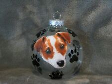 """Hand Made Jack Russell Terrier Dog 3"""" Glass Christmas Ornament/Ball"""