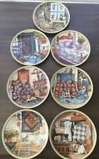 """Knowles """"Cozy Country Corners� Set Of 7 Collector Plates. Excellent Condition"""
