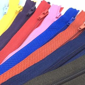 Closed Nylon Plastic Zips / 244+ Trouser & Skirt Zips /  FREE FAST DELIVERY!!!