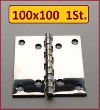 1 Stück INOX Edelstahl VA A2 Scharnier 100x100mm