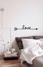 LOVE dreams Arrow infinity Heart Quote Wall Stickers Bedroom Removable Decal DIY