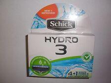 Schick Hydro 3 Refill Cartridges - 4 count w/ Bonus Hydro 5 cartridge - Total 5