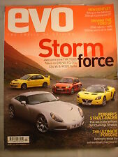 Evo Magazine # 57 - TVR - FQ-300 - Clio V6 - VX220 turbo - classic buying guide