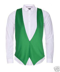 St Patrick's Day Shamrock Green Waistcoat Irish Unisex Fancy Dress