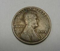 1913 Lincoln Wheat Cent in Average Circulated Condition Priced Right Free S&H