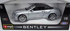 Bentley Continental Supersports Convertible silber Maßstab 1:18 von Bburago
