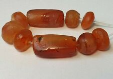 9 ANCIENT RARE CARNELIAN / AGATE BEADS (11mm to 22.5mm)