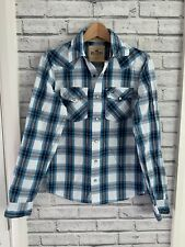 Hollister size S men's Blue And White check shirt longsleeve