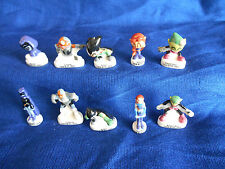 Teen Titans Go! Set of 10 Tiny Figures French Porcelain Feves Dc Mini Figurines