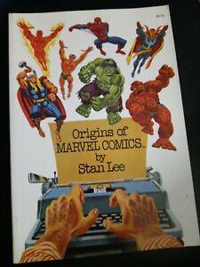 Origins Of Marvel Comics Stan Lee Simon & Schuster 1974 Fireside