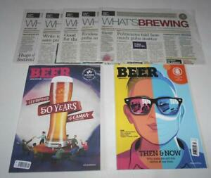 Beer Magazines & What's Brewing CAMRA Newspapers x5 Sept-Feb 2021 Real Ale