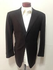 G863 KITON Men's Brown Striped 3-Button Suit 46R 100% Cashmere 41x28 Vents