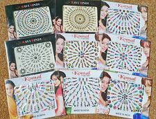 CLEARANCE 100+ Bindi 2x cards of Crystal Diamante Indian Tattoo Bellydance SALE