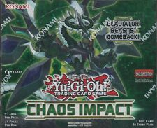 Yu-Gi-Oh ! Chaos Impact Sealed 1st Edition Booster box 24 packs of 9 cards
