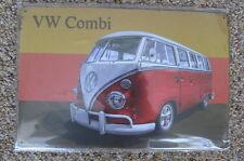 VW Camper Van Tin Metal Sign Painted Poster Club Book  Wall Art Office Garage *
