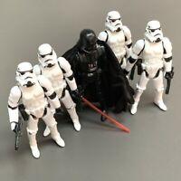 "Lot 5PCS Star Wars Black Serise Darth Vader & Stormtroopers 3.75"" Action Figure"