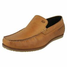 Loafers 100% Leather Upper Shoes Square for Men