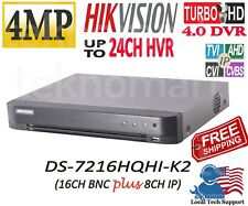 HIKVISION 4MP DS-7216HQHI-K2 16CH HD-TVIDVR + 8CH IP INPUT IN TOTAL 24CH H.265+