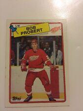 1988-89 Topps Bob Probert RC #181 Detroit Red Wings