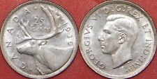 Extra Fine 1939 Canada Silver 25 Cents