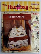 Rodeo Canvas Fabric Tote Bag Sewing Craft Kit Southwestern Purse Handbag Hancock