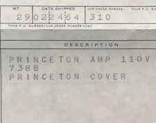 Rare Original Fender Princeton Amp Sales Invoice 1964 from the factory!!