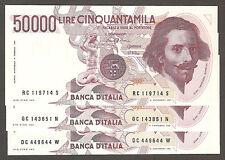 50.000 lire BERNINI I tipo SERIE C FDS da mazzetta UNC 50000 prezzo x1 banconota