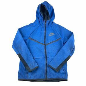 Nike Tech Boys Age 10-11 M Blue Full Zip Hoodie