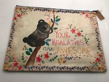 "Natural Life recycled plastic zippered bag. KOALA  14""x10"" Gift bag. AWESOME"