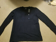 NWT Abercrombie & Fitch Pocket  T-Shirt Long Sleeve Navy M or L