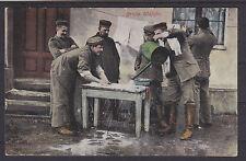 AK PK WW1 WK1 Patriotika Soldaten grosse Wäsche gel. 1916