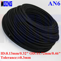 AN6 AN-6 6-AN Nylon Braided oil gas Line PTFE E85 Alcohol Fuel Hose 20FT Black