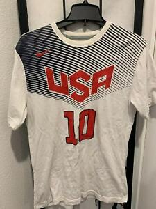 Nike Kyrie Irving Team USA Tee Shirt Mens Medium White