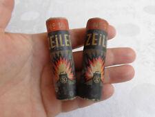 """RAR Original Paar 2.WK WW2 Wehrmacht Heer Taschenlampe """"ZEILER"""" No. 14 Batterie"""