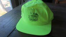 Vintage Neon Yellow Nylon Sydney Australia Hat
