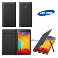 New OEM Samsung Black Galaxy Note 3 Wallet Flip Cover Case