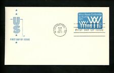 US FDC #U555 Farnam 1971 Washington DC White House Conference on Youth